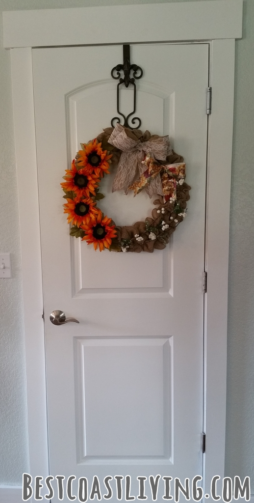 Brighten up interior doors with a wreath.