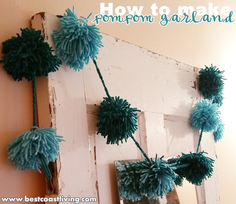 How to make pompom garland