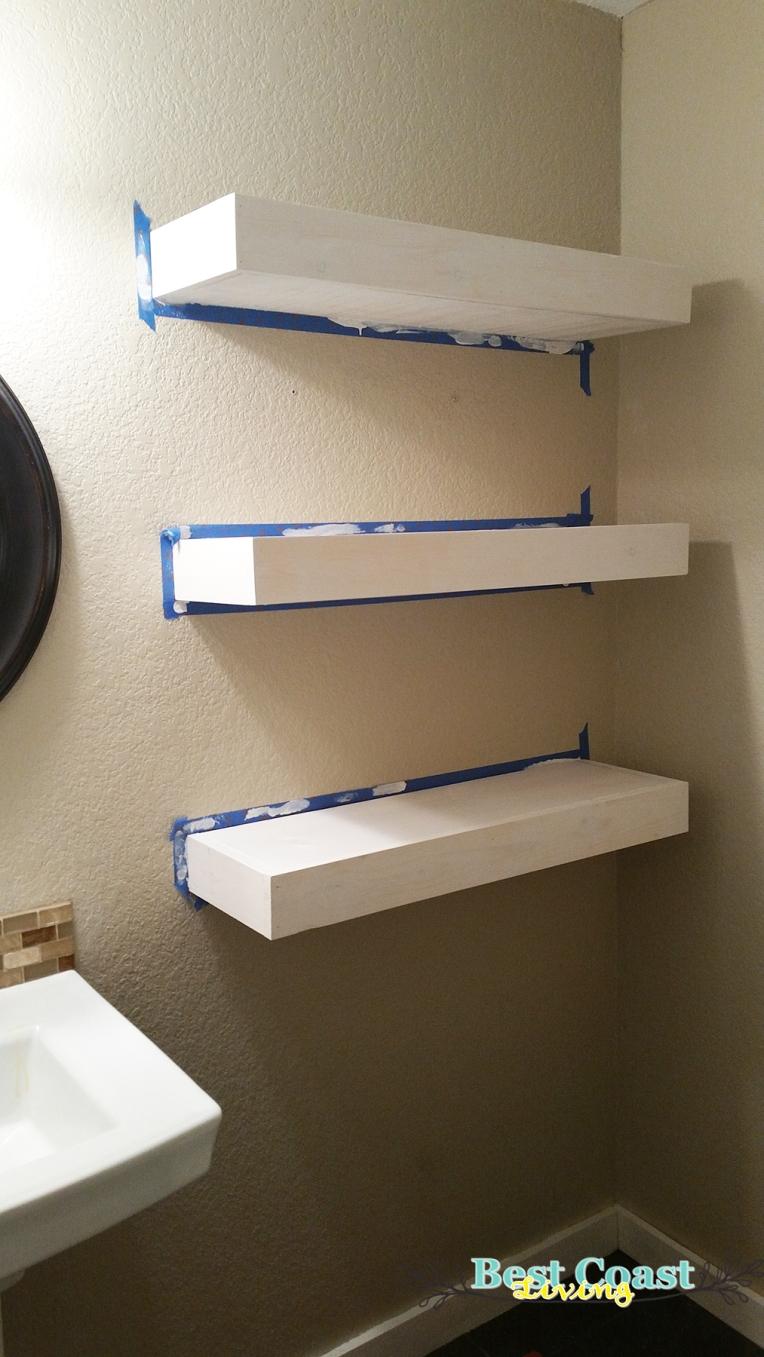 Floating Shelves in Progress 3