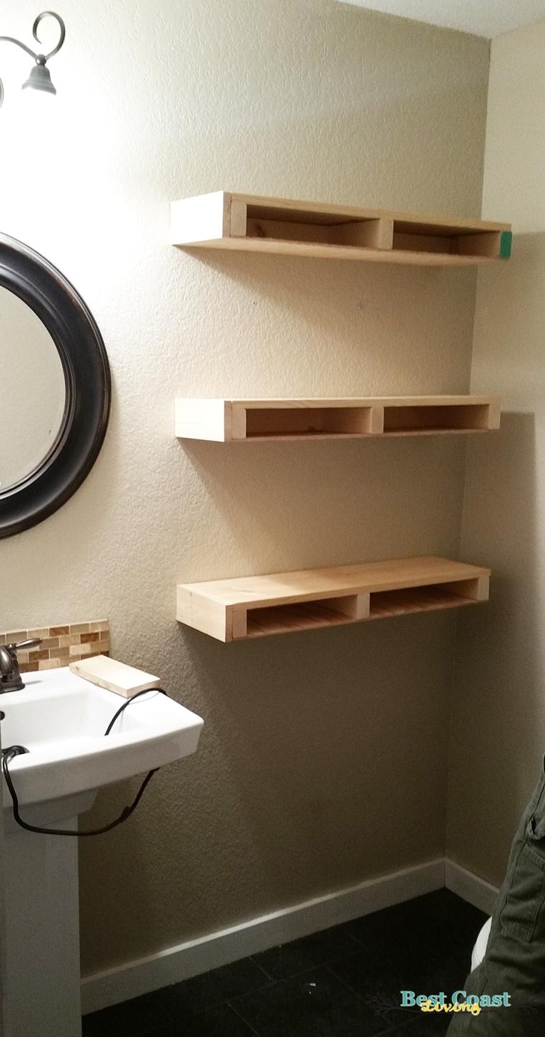 Floating Shelves in Progress2