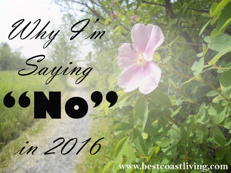 Why I'm saying No in 2016